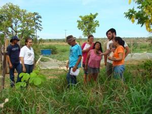 Agricultores familiares durante atividade prática com uso de GPS. Foto: Arquivo / ICV