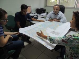 Mapa da malha fundiária do Assentamento São Pedro elaborado pelo ICV. Foto: Djhuliana Mundel / ICV