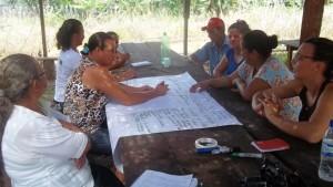 Moradores da Comunidade Novo Horizonte, durante atividades de planejamento. Foto: Sucena Resk / ICV