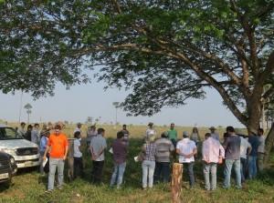 Dia de Campo reuniu produtores e técnicos de municípios para demonstrar técnicas de restauro. Foto: Raíssa Genro/ICV