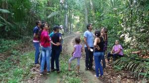 Trecho de conservação florestal em sítio da agricultora familiar Helena chamou a atenção dos visitantes. Foto: Sucena Shkrada Resk/ICV