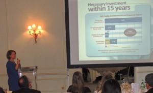 Alice Thuault, do ICV, falou sobre os desafios dos próximos anos para implementar a meta de desmatamento zero. Foto: Daniela Torezzan/ICV