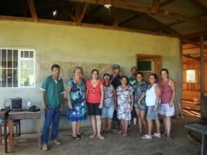 Agricultores familiares da Associação da comunidade de Santa Clara iniciaram seu planejamento de comunicação interna, durante oficina do ICV. Foto: Divulgação/ICV