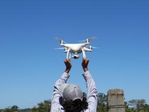 VANT (Veículo Aéreo Não Tripulado) produziu imagens de altíssima resolução. Foto: Raíssa Genro/ICv