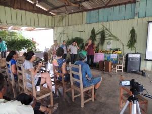 Integrantes da Campanha Cotriguaçu a Caminho da Sustentabilidade apoiaram o encontro e falaram das agendas afins. Foto: Sucena Shkrada Resk