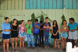 Segurança alimentar na apresentação dos estudantes e professores. Foto: Carina Sernaglia/ICV