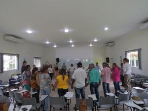 Momento de integração durante o workshop. Foto: Raíssa Genro/ICV