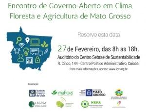 Divulgação Encontro Governo Aberto em Clima, Floresta e Agricultura de Mato Grosso