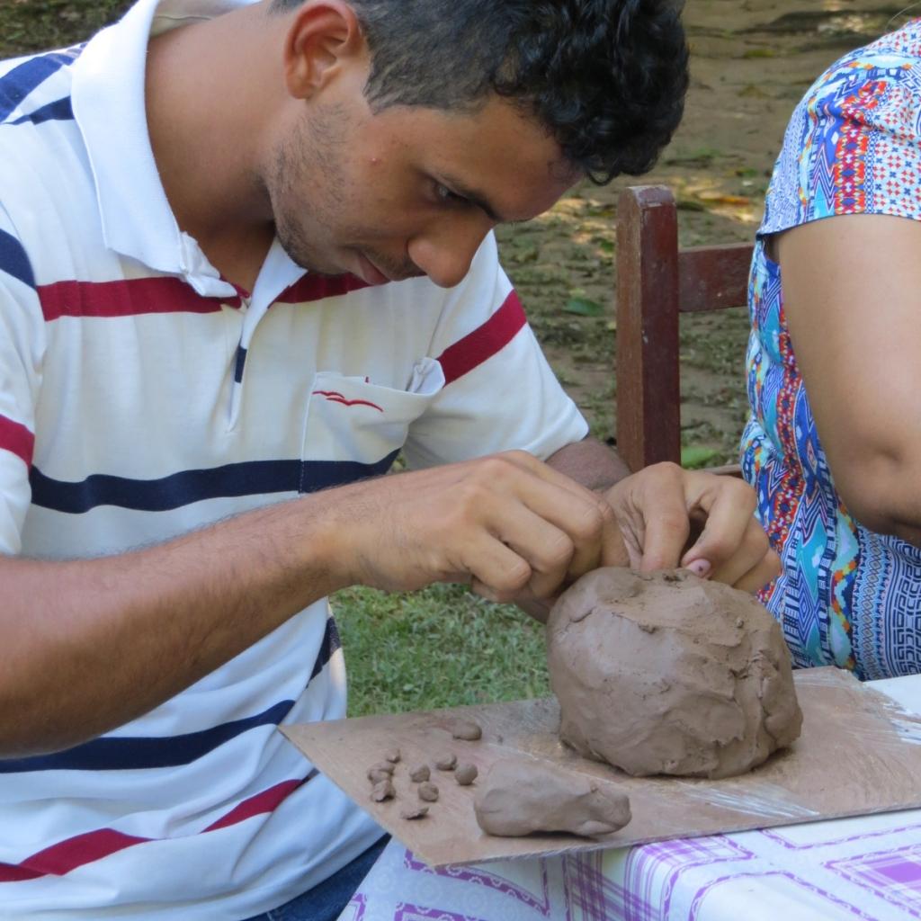 Diemerson Junior da Silva participa de atividades do Programa Germinar de desenvolvimento de metas em campos da saúde, vida profissional, pessoal, socioambiental, econômico e do autodesenvolvimento.