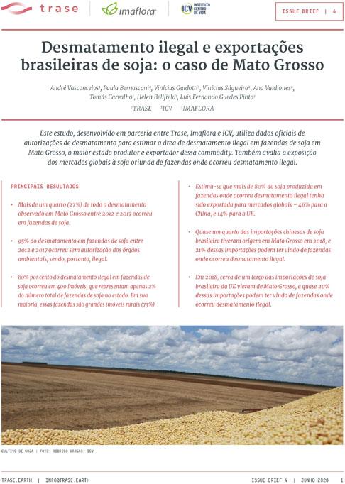 Estudo avalia desmatamento ilegal em áreas de soja em MT
